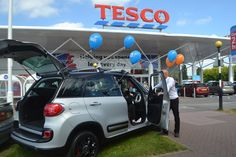 Today Matt from our Gloucester branch was giving a demonstration of the new Fiat 500L outside Tesco Gloucester.