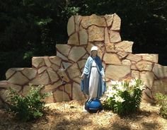 images about Grotto Mary Garden Ideas on Pinterest