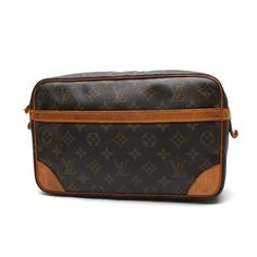 Louis Vuitton  Compiegne Monogram Clutches Brown Canvas M51845