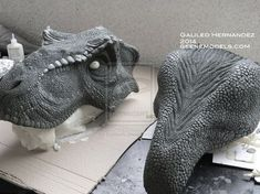 T rex bust 1:4 scale Molding WIP by GalileoN on deviantART
