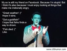 This should not be so funny: ex boyfriend xD