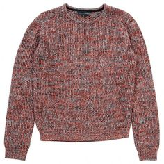 Multicolour Wool Knitwear JONATHAN SAUNDERS ($145) ❤ liked on Polyvore featuring tops, sweaters, clothes - tops, jumper, red jumper, red wool sweater, woolen sweater, multi colored sweater and jonathan saunders