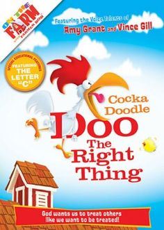 Enter to win Cocka Doodle Doo The Right Thing DVD for children 7 and under.  Ends 4/20