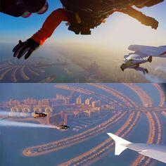 Expo 2020 Dubai, UAE: Emirates A380 Expo 2020 and Jetman Dubai Formation...