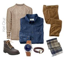 """""""Winter Fashion for Men"""" by keri-cruz ❤ liked on Polyvore featuring Jack & Jones, Timberland and Barbour"""