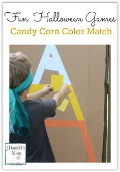 Fun Halloween Games: Candy Corn Color Match- This one in series of five Fall Festival or Halloween Party Games.