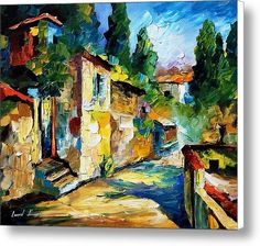 Somewhere In Israel - Palette Knife Oil Painting On Canvas By Leonid Afremov Canvas Print / Canvas Art By Leonid Afremov