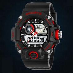 6966d55ed76 Pánské moderní sportovní hodinky červené – pánské hodinky Na tento produkt  se vztahuje nejen zajímavá sleva