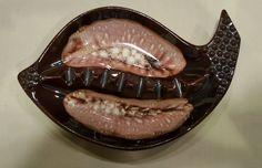 Vintage Ceramic Art Deco Retro Cigar Cigarette Ashtray 60s 70s Drip Glaze NR