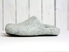 Felted wool clogs  slippers for women or men  natural by AgnesFelt, $70.00