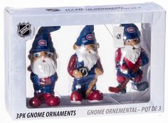 Dad - From Jackson RetroFestive.ca - NHL Montreal Canadiens 3-Pack Gnome Ornaments, $17.99 (http://www.retrofestive.ca/nhl-montreal-canadiens-3-pack-gnome-ornaments/)