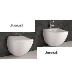 Coppia/Serie Vaso WC e Bidet Sospeso completo di Coprivaso Jacuzzi Moove