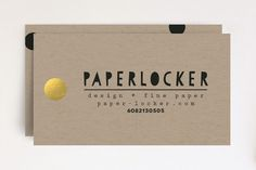 Paper Business Cards by Susan Brown at minted.com