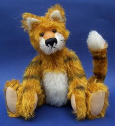 This is a fun PDF pattern for a Tiger, Taylor made from mohair with a posable tail..    Once you have made your purchase you will be able to