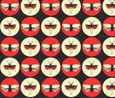Bugs under the Spotlight fabric by sketchcreative on Spoonflower - custom fabric