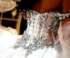 Encrusted bodice of a wedding gown. And a little see through too ;) maybe a little too sexy for my taste but who knows!