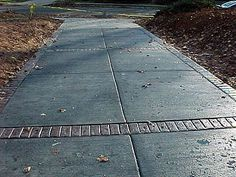 concrete blocks with brick stamped inlays