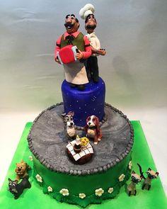 Disney- ladyandthetramp #ladyandthetramp#ladyandthetrampcake #norge #modelering #skulptur #fondantwork#disneycakesandsweets #fondanttopper #cake #kake #kokk #marsipan #sukkerpasta #weddingcake #dummiecake#disneycake#ukebladethjemmet#handcrafted #homemade