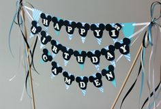 Baby Mickey Mouse birthday party decorations Mickey Mouse birthday cake decorations Mickey Mouse baby shower Mickey cake smash Mickey buffet - pinned by pin4etsy.com