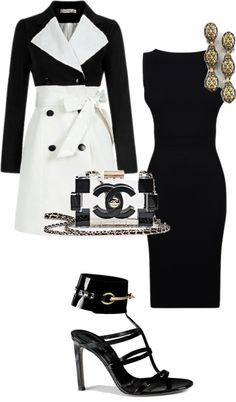 """""""black and white"""" by settingmoon on Polyvore"""