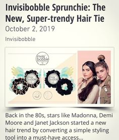 The Sprunchie is your salons new bestseller! Trendy, fun, luxurious and easy to use. New Hair Trends, Demi Moore, Janet Jackson, Styling Tools, Trendy Hairstyles, Hair Ties, Best Sellers, Salons, Easy