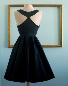 Audrey hepburn breakfast at tiffanys black dress vintage inspired retro dress - TIFFANY style. $159.00, via Etsy.