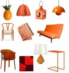 Orange decor.