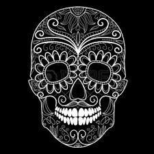 Resultado de imagen para calaveras mexicanas diseños en blanco y negro