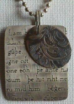 Beowulf Sterling Dog Tags atelier1450.etsy.com