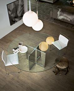 Round crystal #table RAJ 4 by Gallotti & Radice | #design Ricardo Bello Dias @Gallotti&Radice