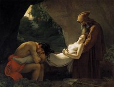 Anne-Louis Girodet de Roucy-Trioson, The Entombment of Atala, 1808, Oil on canvas, 207 x 267 cm, Musée du Louvre, Paris