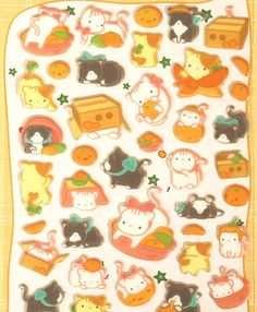 Chat égyptien Puffy Stickers 1 feuille par SYSYCreationShop sur Etsy