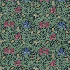 The Original Morris & Co - Arts and crafts, fabrics and wallpaper designs by William Morris & Company | Products | British/UK Fabrics and Wallpapers | Iris (DMC1Q5203) | Morris Fabric Compilation