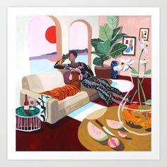 Tiger Queen Art Print by artyguava Canvas Art Prints, Canvas Wall Art, Queen Poster, Footer Design, Milk Shop, Pet Tiger, Queen Art, Diy Frame, One Design
