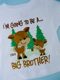 Personalized Big Brother Woodland Deer Tee by ThingsVerySpecial, $14.99