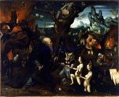 """""""Tentazioni di Sant'Antonio,"""" 1545, Hieronymus Bosch."""