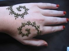another simple henna design. Wedding henna! If I don't get a new tattoo.