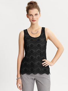 Create / Enjoy: Pretty lace and tee-into-tank makeover