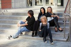 Young people sitting on the steps ...  adult, beautiful, beauty, boy, building, city, college, color, cool, cute, door, face, fashion, fashionable, female, friends, friendship, girl, grunge, guys, idle, jeans, laziness, lazy, life, lifestyle, looking, male, man, model, office, outdoor, outside, people, relax, relaxing, sitting, stairs, steps, street, students, teenager, teens, urban, white, woman, young, youth