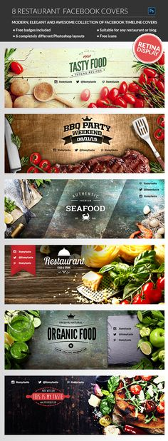 A good restaurant facebook cover design its key to any restaurant´s marketing plan #design #marketing