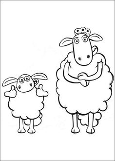 Shaun the Sheep Coloring Pages 9