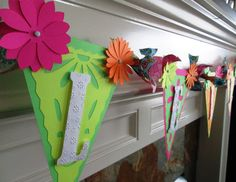Flower Banner Custom Made in your Colors Perfect for by PartyFetti, $39.99