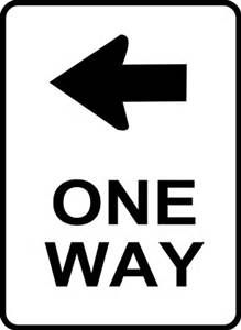 One Way Traffic Sign clip art