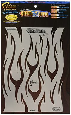 Artool Freehand Airbrush Templates Flame ORama Slash >>> Visit the image link more details. (Note:Amazon affiliate link)