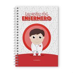 Cuaderno XL - Las notas del enfermero, encuentra este producto en nuestra tienda online y personalízalo con un nombre. Notebook, Scrapbook, Cover, Notebooks, Report Cards, Day Planners, Studio, Student, Scrapbooking