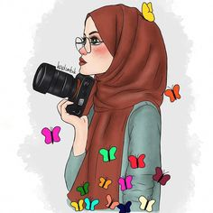 Illustrations and posters on share sunday 1 Hijabi Girl, Girl Hijab, Muslim Girls, Muslim Women, Cartoon Sketches, Cartoon Art, Fashion Sketchbook, Fashion Sketches, Clique Art