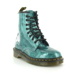 Dr Martens 1460 Emerald Jewel Womens 8-Eyelet Ankle Boots - Emerald Green