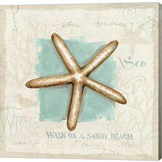 Lisa Audit Premium Thick-Wrap Canvas Wall Art Print entitled Coastal Jewels IV, None Canvas Artwork, Abstract Canvas, Poseidon, Beach Art, Graphic Art, Fine Art Prints, Coastal, Wall Art, Illustration