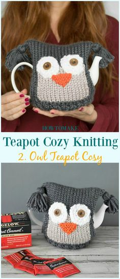 Knitting patterns free tea cosy gift ideas 60 New ideas Tea Cosy Knitting Pattern, Tea Cosy Pattern, Knitting Machine Patterns, Free Knitting, Baby Knitting, Knitted Owl, Knitted Gifts, Stitch Ears, Amigurumi
