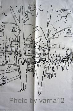 Maija Louekari 2003 HETKIA/MOMENTS Tea Towel